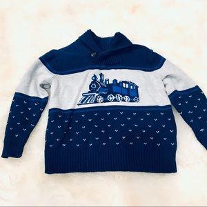 Janie and Jack 2t train sweater